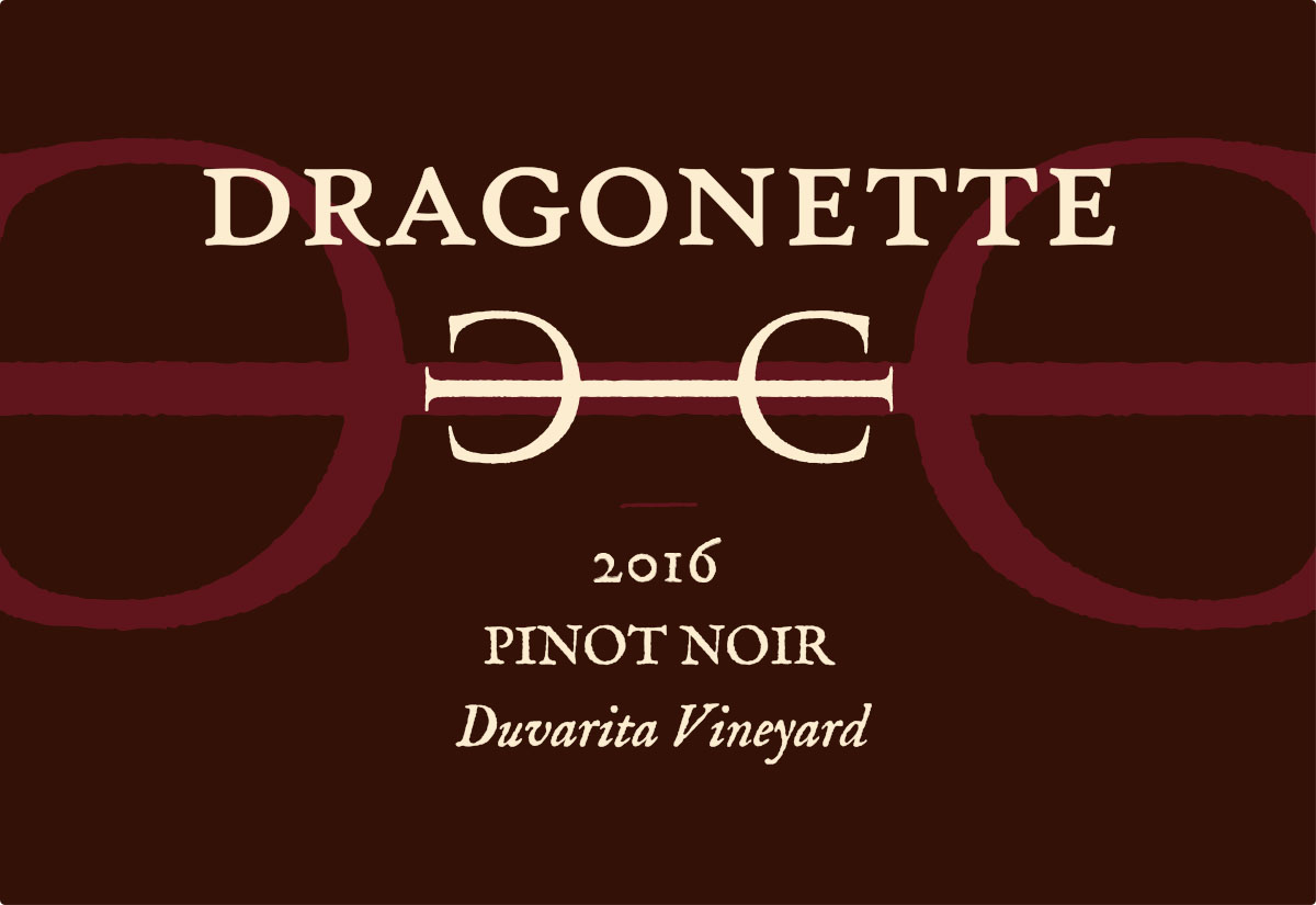 2016 Pinot Noir, Duvarita Vineyard ** SOLD OUT **